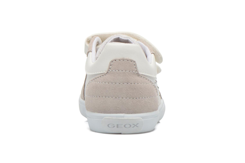Baskets Geox B Kiwi Girl B52D5E Blanc vue droite