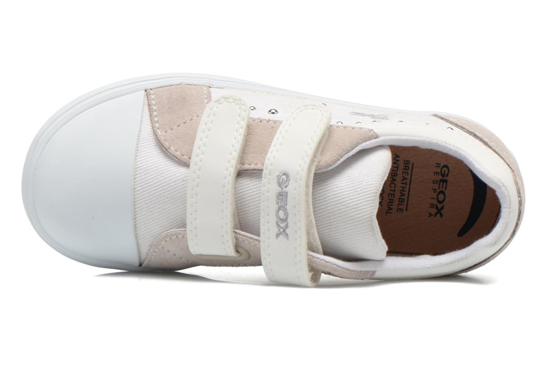 Sneaker Geox B Kiwi Girl B52D5E weiß ansicht von links