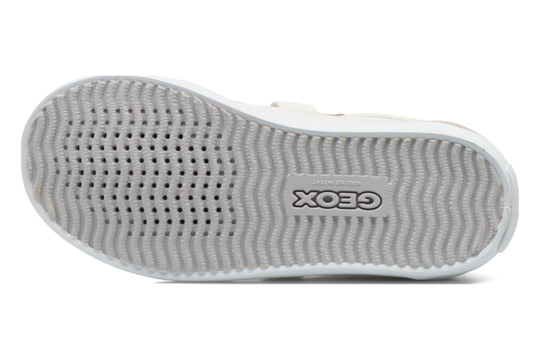 Baskets Geox B Kiwi Girl B52D5E Blanc vue haut