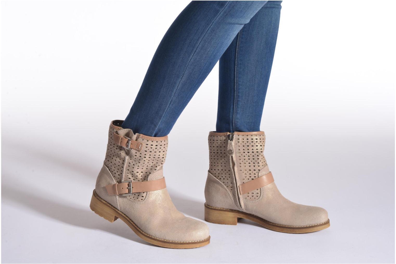 Stiefeletten & Boots Geox D New Virna D5251G beige ansicht von unten / tasche getragen