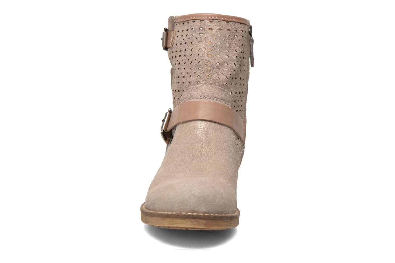 Stiefeletten & Boots Geox D New Virna D5251G beige schuhe getragen