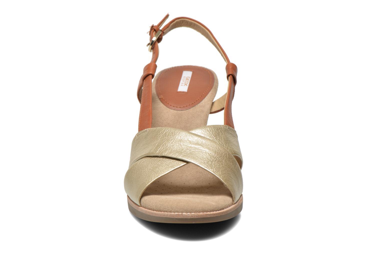 Sandalen Geox D Callie D52G6B braun schuhe getragen