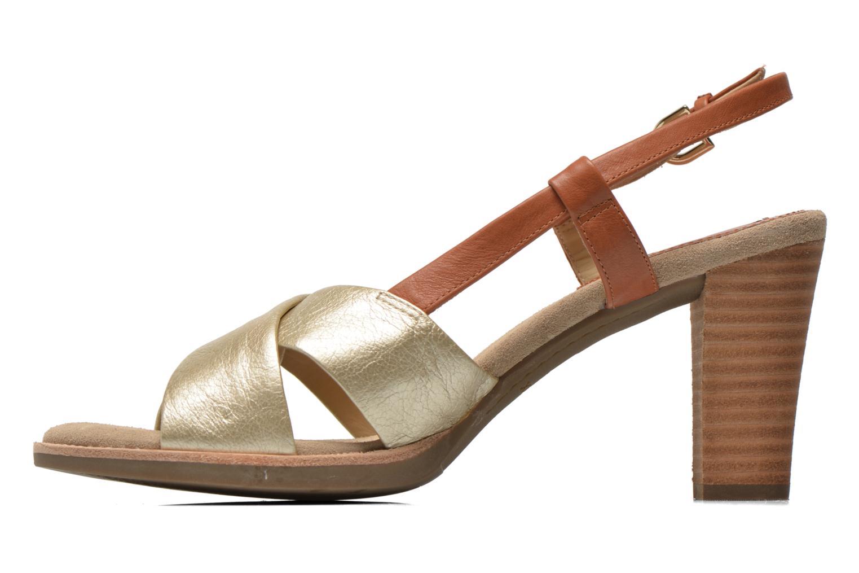 Sandalen Geox D Callie D52G6B braun ansicht von vorne