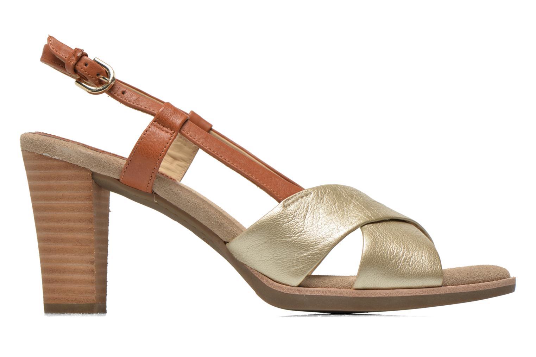 Sandals Geox D Callie D52G6B Brown back view