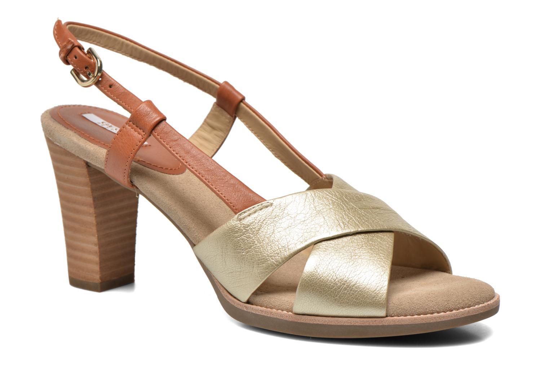 Sandals Geox D Callie D52G6B Brown detailed view/ Pair view