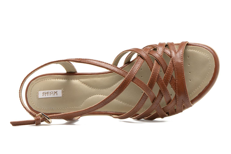 Sandali e scarpe aperte Geox D New Coral D52S3A Marrone immagine sinistra