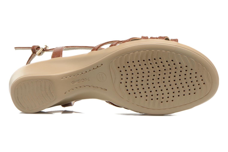 Sandali e scarpe aperte Geox D New Coral D52S3A Marrone immagine dall'alto