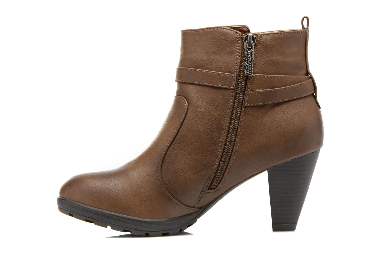 Ankle boots Refresh Lisa-61174 Beige front view