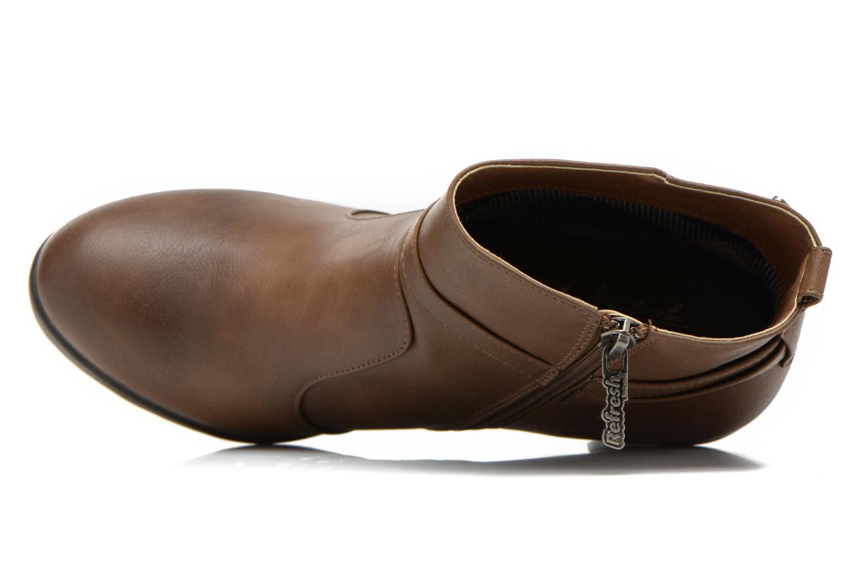 Bottines et boots Refresh Lisa-61174 Beige vue gauche