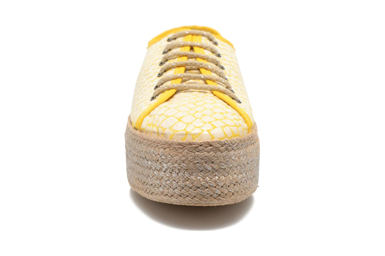 Chaussures à lacets Ippon Vintage Snake Sun Jaune vue portées chaussures