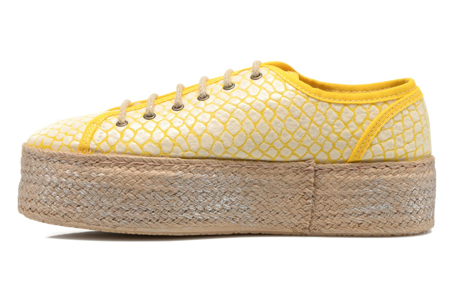Lace-up shoes Ippon Vintage Snake Sun Yellow front view