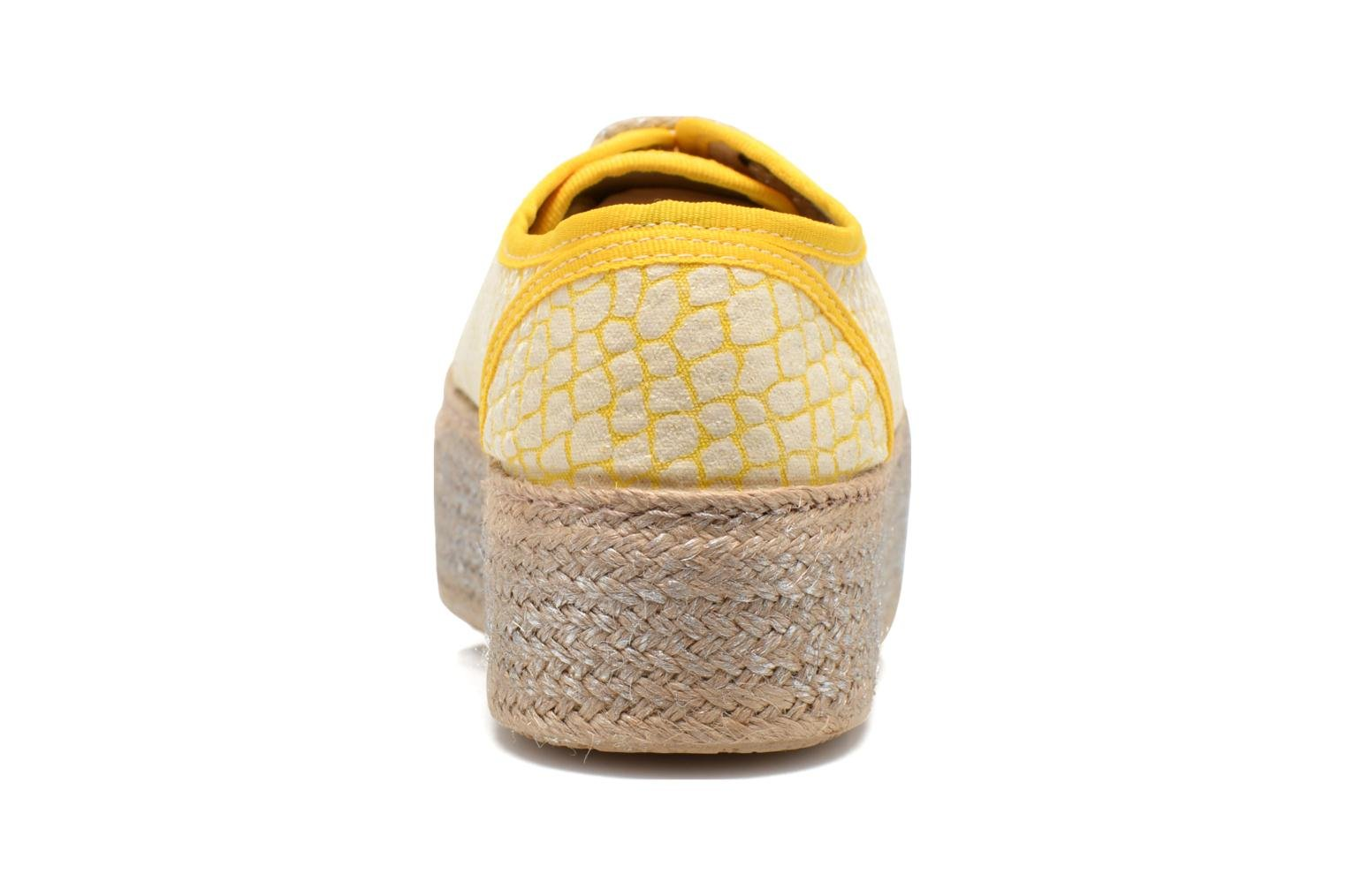 Lace-up shoes Ippon Vintage Snake Sun Yellow view from the right