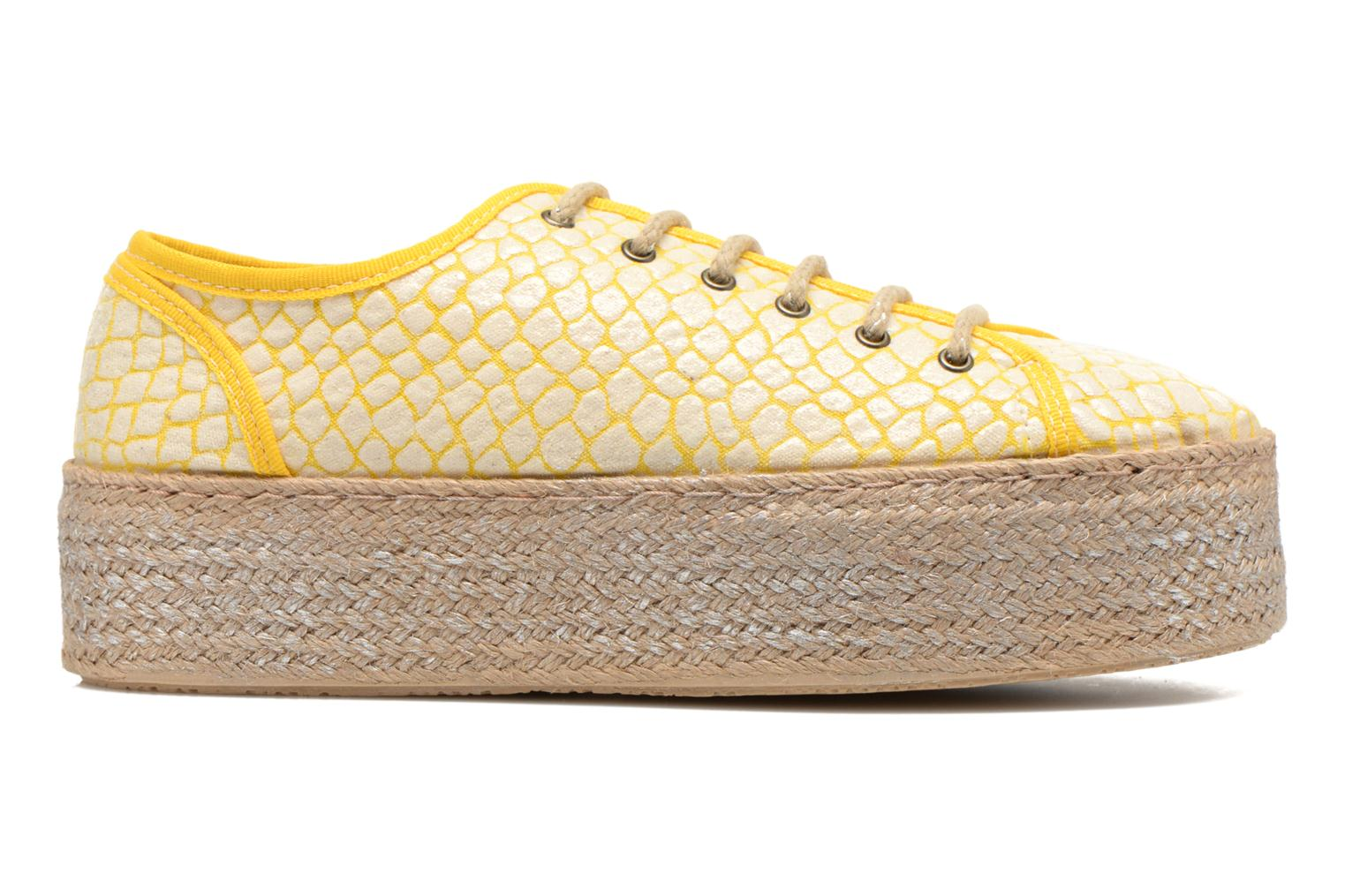 Lace-up shoes Ippon Vintage Snake Sun Yellow back view