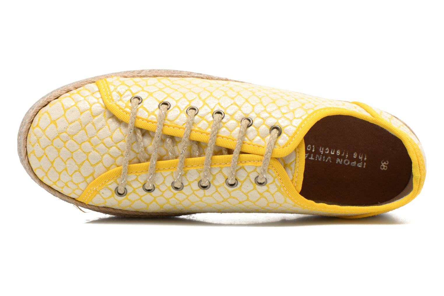 Lace-up shoes Ippon Vintage Snake Sun Yellow view from the left
