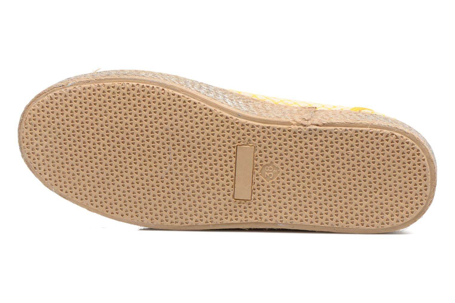 Lace-up shoes Ippon Vintage Snake Sun Yellow view from above