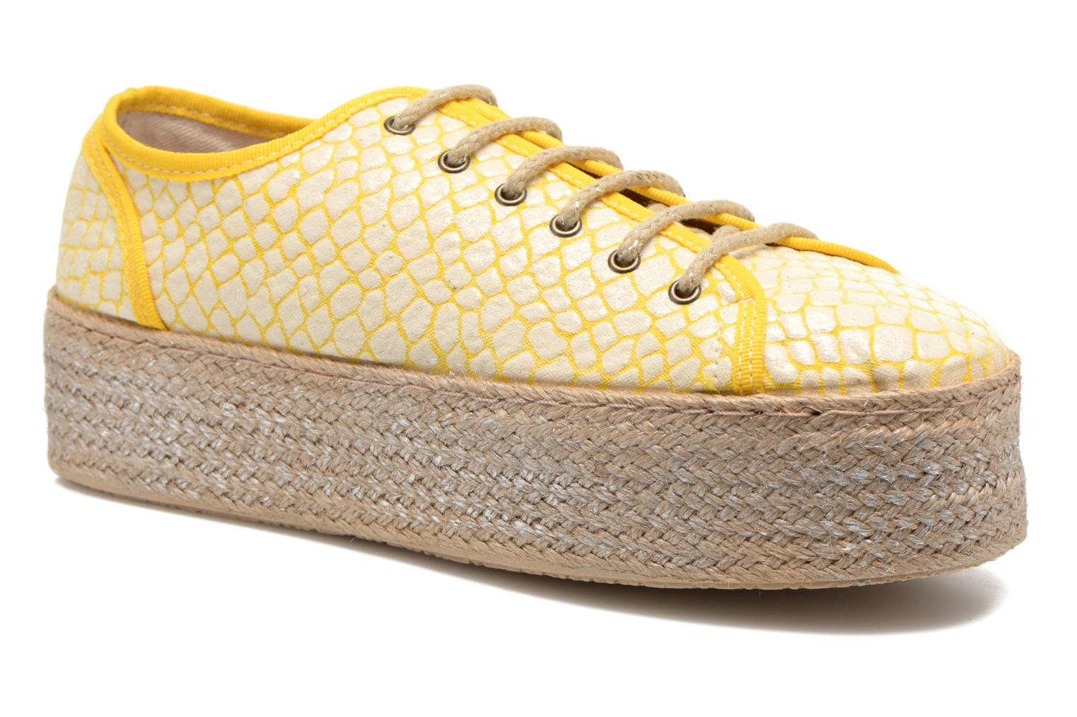 Lace-up shoes Ippon Vintage Snake Sun Yellow detailed view/ Pair view