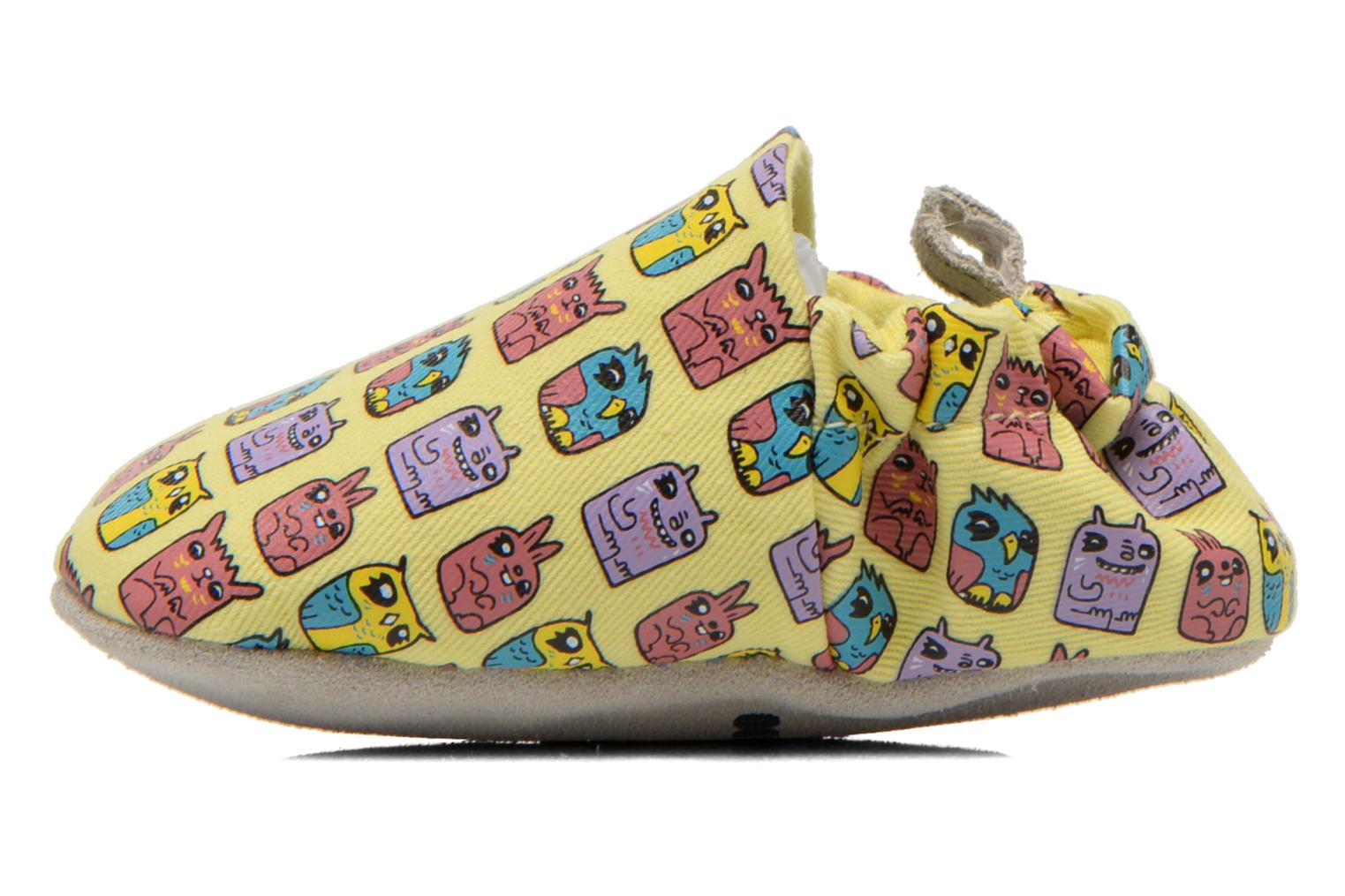 Slippers Poco Nido ANIMAL CUBES Yellow front view