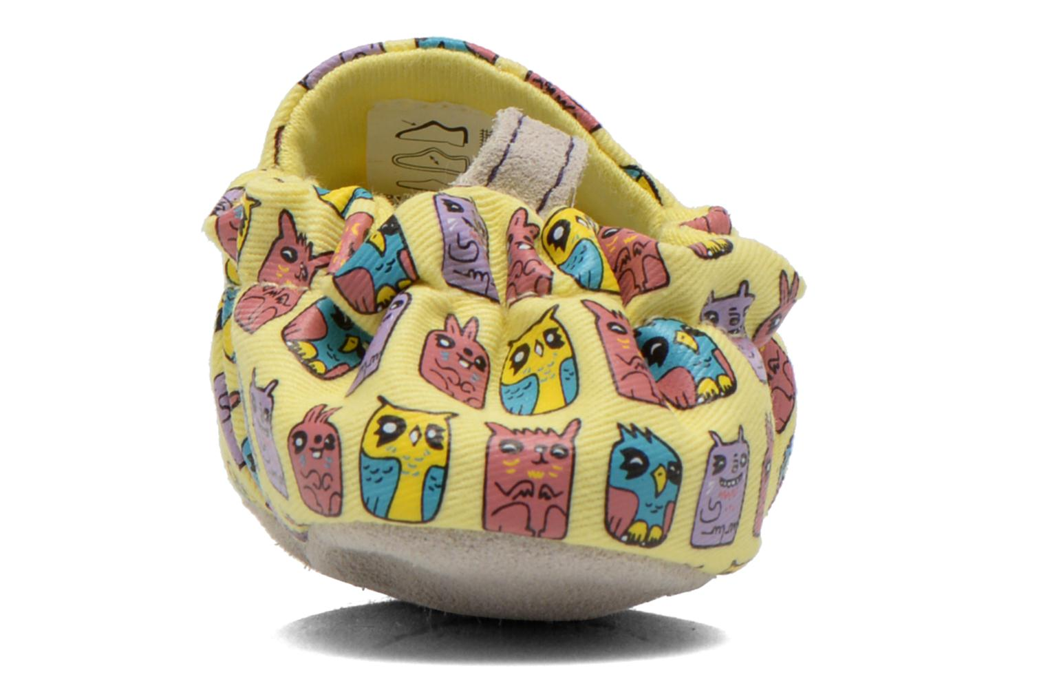 Slippers Poco Nido ANIMAL CUBES Yellow view from the right