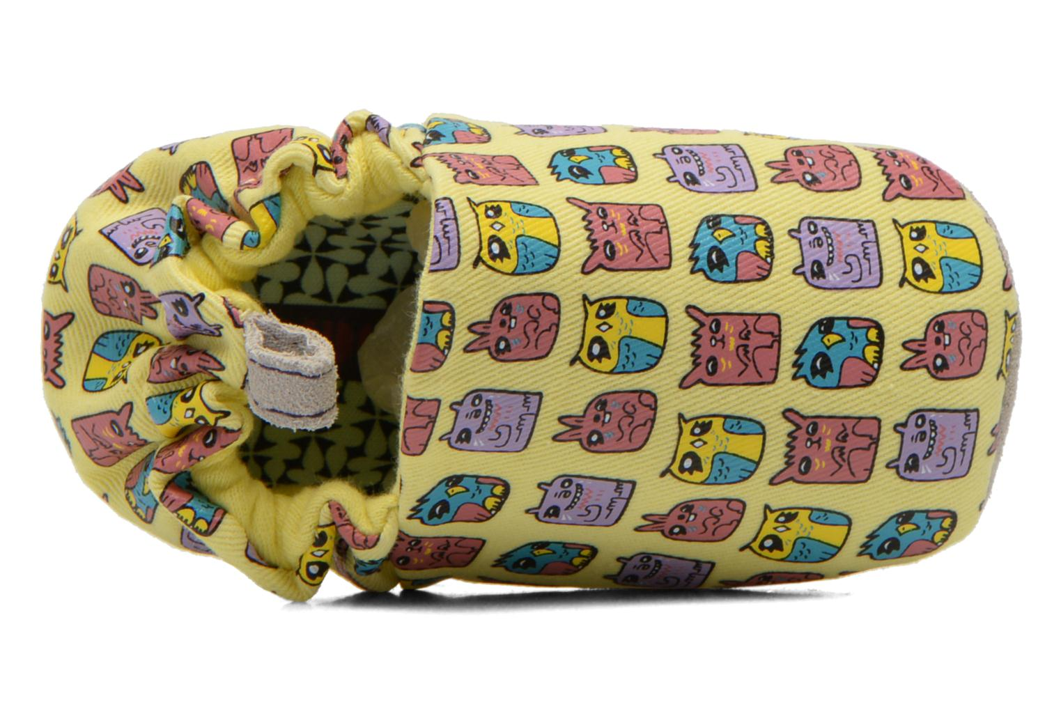 Slippers Poco Nido ANIMAL CUBES Yellow view from the left