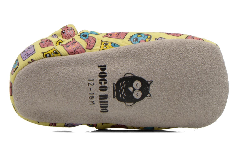 Pantofole Poco Nido ANIMAL CUBES Giallo immagine dall'alto