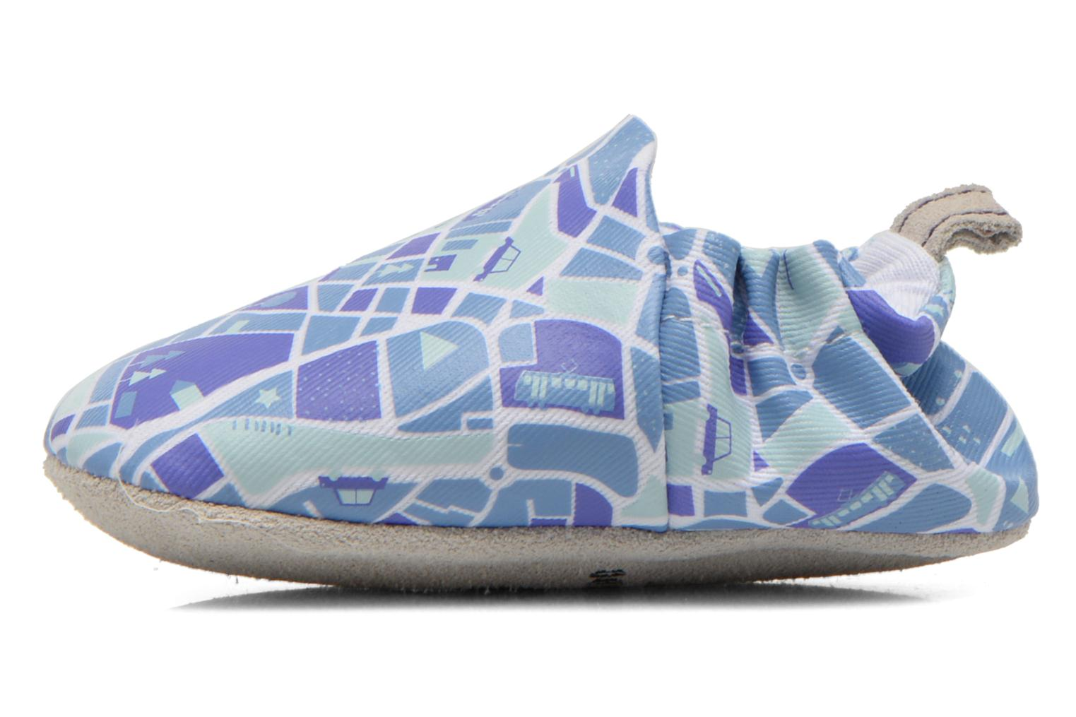 Slippers Poco Nido MAPS Blue front view