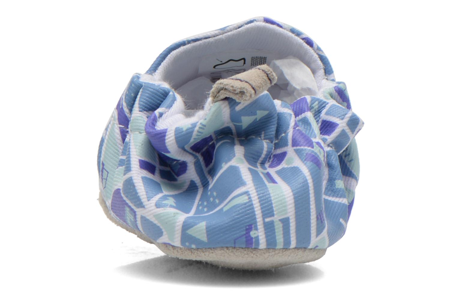 Slippers Poco Nido MAPS Blue view from the right