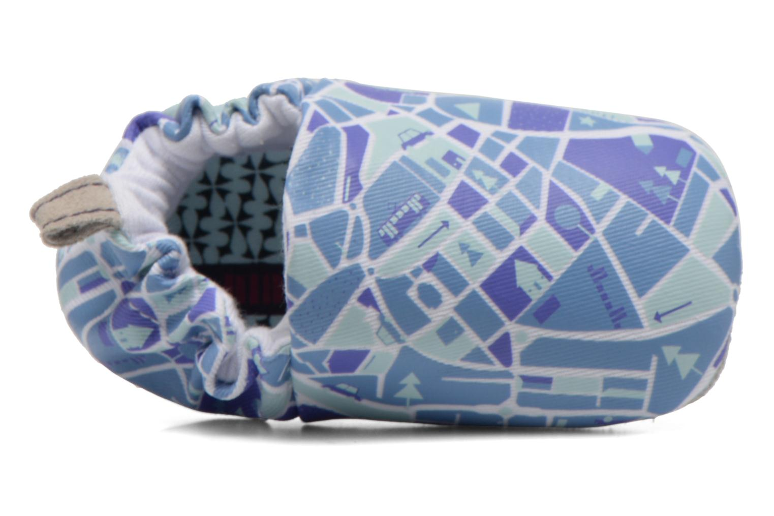 Slippers Poco Nido MAPS Blue view from the left