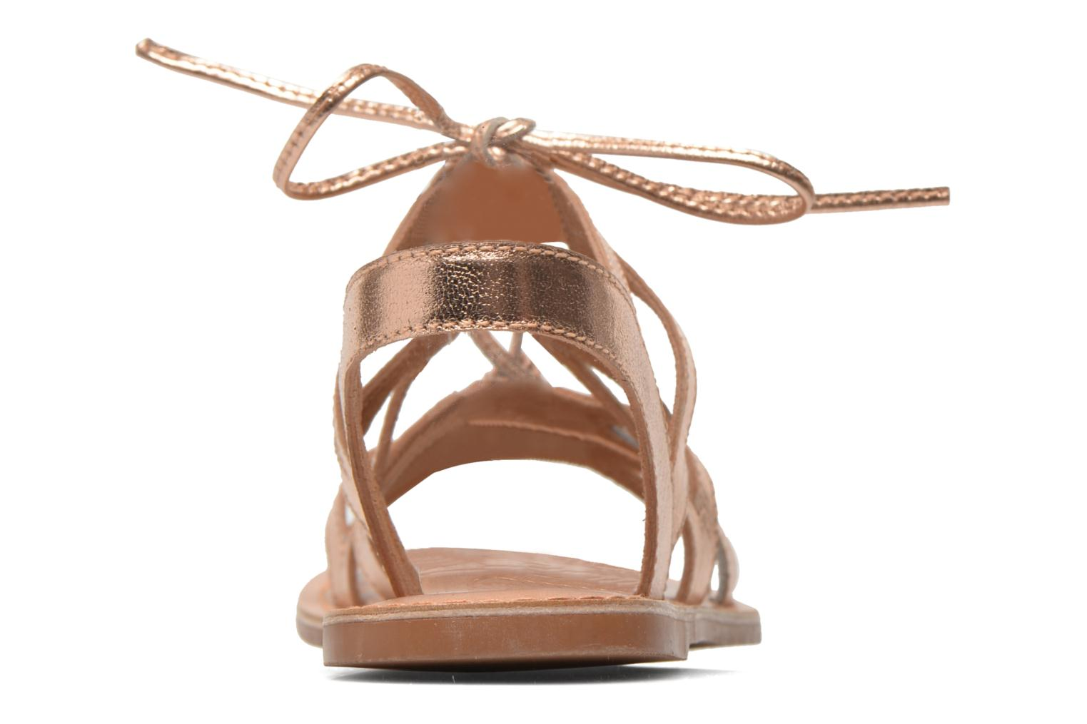 Sandals I Love Shoes SUGLI Leather Bronze and Gold view from the right