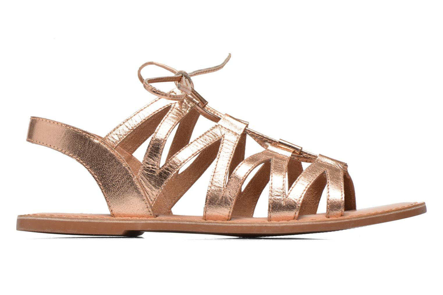 Sandals I Love Shoes SUGLI Leather Bronze and Gold back view