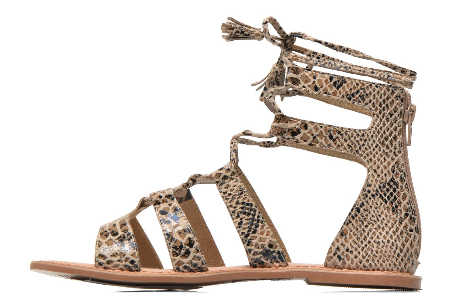 Sandals I Love Shoes SUGLIHIGH CUIR Beige front view