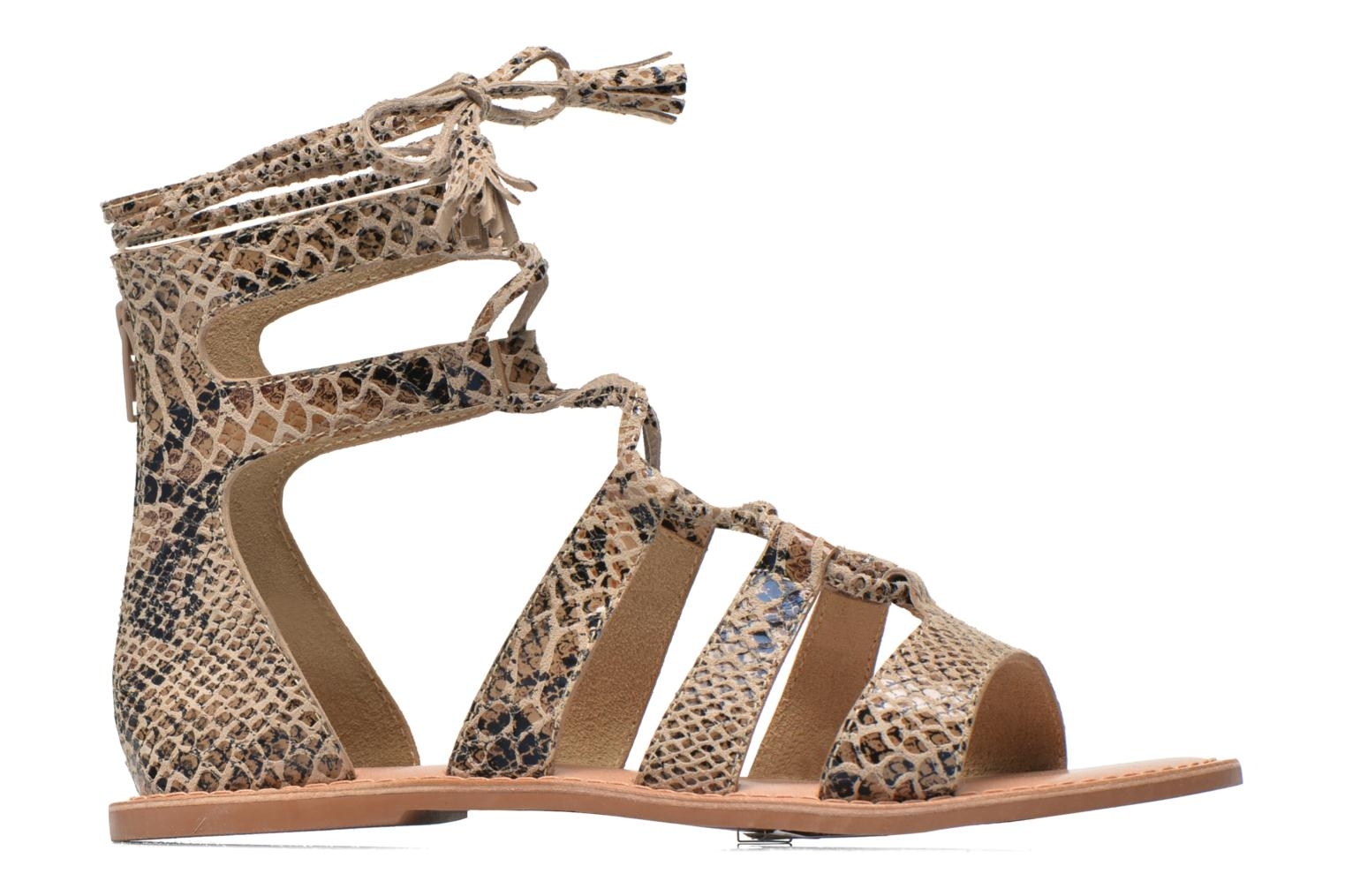 Sandals I Love Shoes SUGLIHIGH CUIR Beige back view