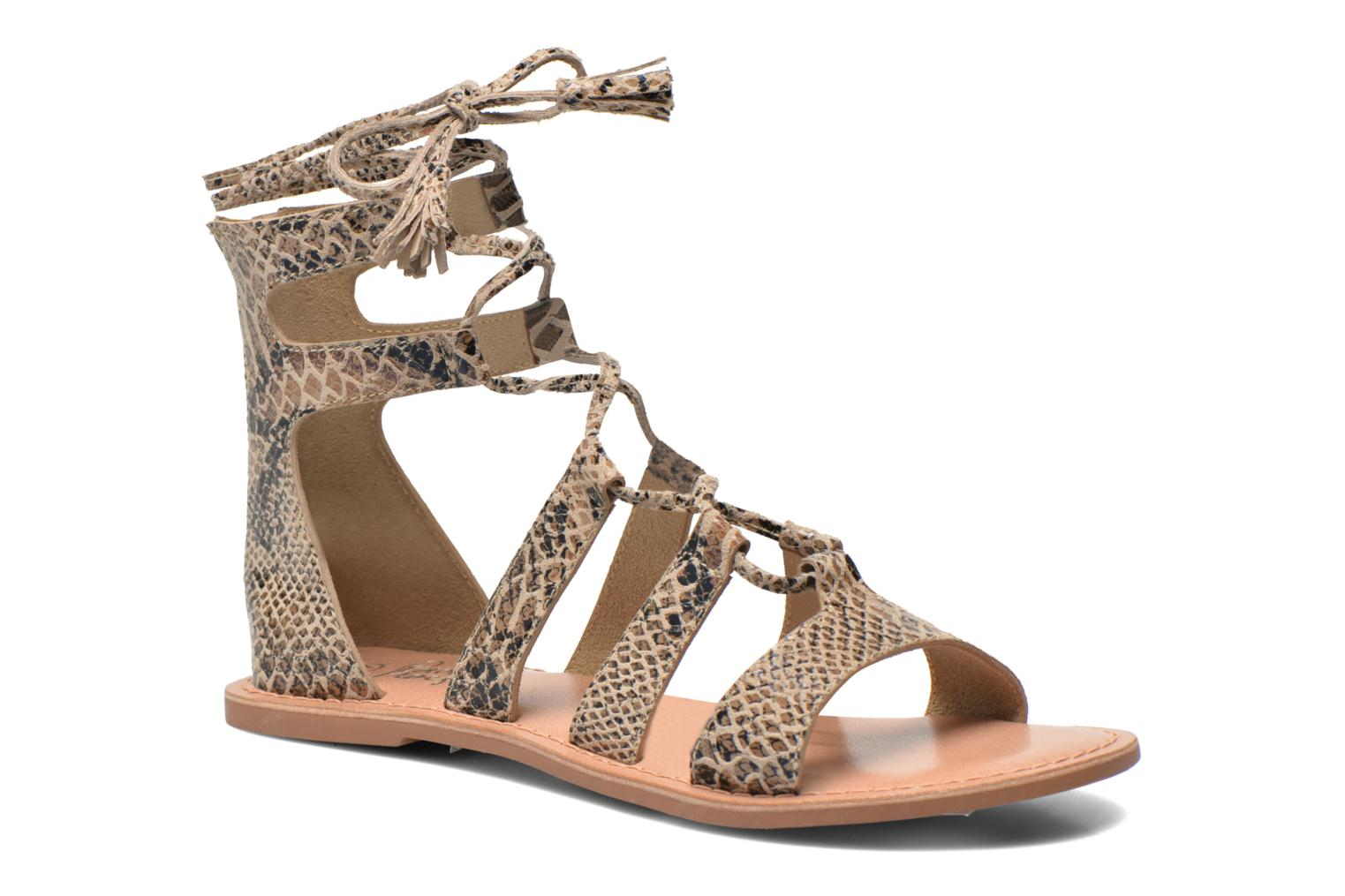 Sandals I Love Shoes SUGLIHIGH CUIR Beige detailed view/ Pair view