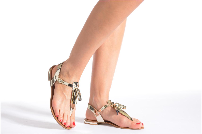 Sandales et nu-pieds Georgia Rose Dormine Argent vue bas / vue portée sac