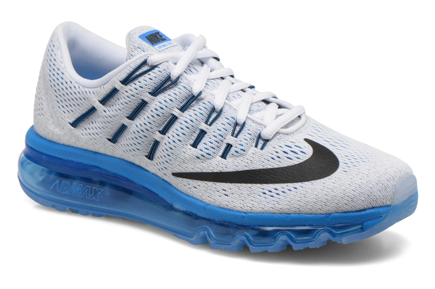 wholesale dealer 6c36b e4333 Nike Air Max 2016 Wit Met Blauwe Zool
