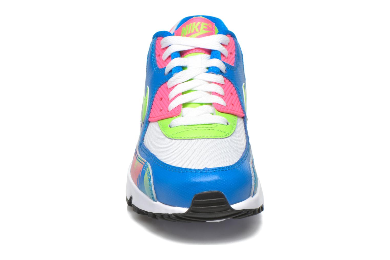 Sneaker Nike Nike Air Max 90 Print Mesh Gs mehrfarbig schuhe getragen