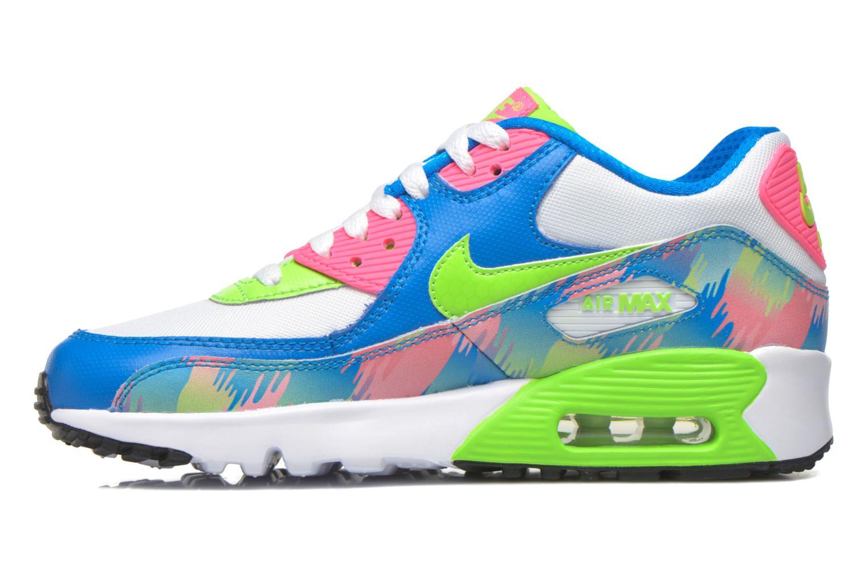 Sneaker Nike Nike Air Max 90 Print Mesh Gs mehrfarbig ansicht von vorne