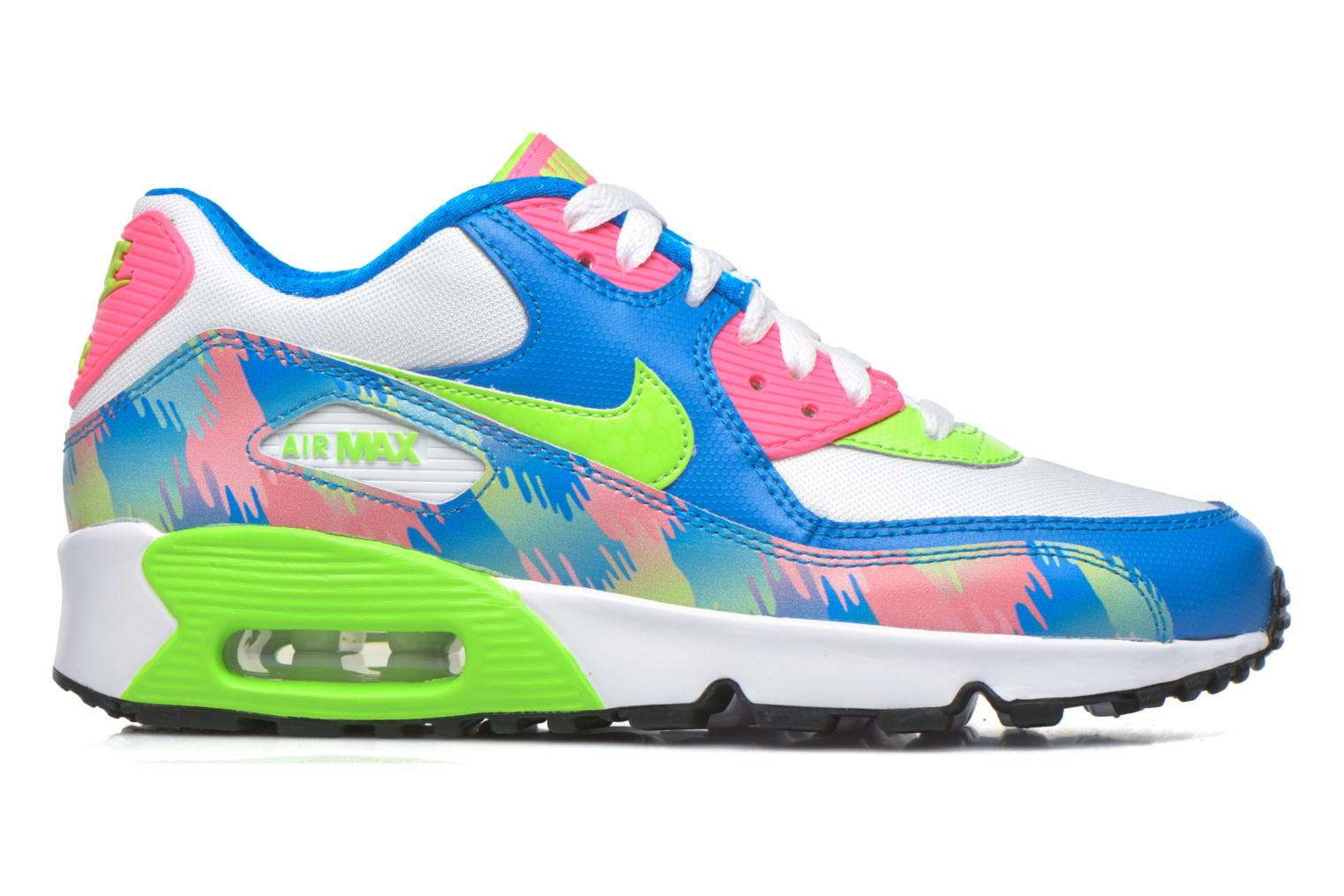 Baskets Nike Nike Air Max 90 Print Mesh Gs Multicolore vue derrière