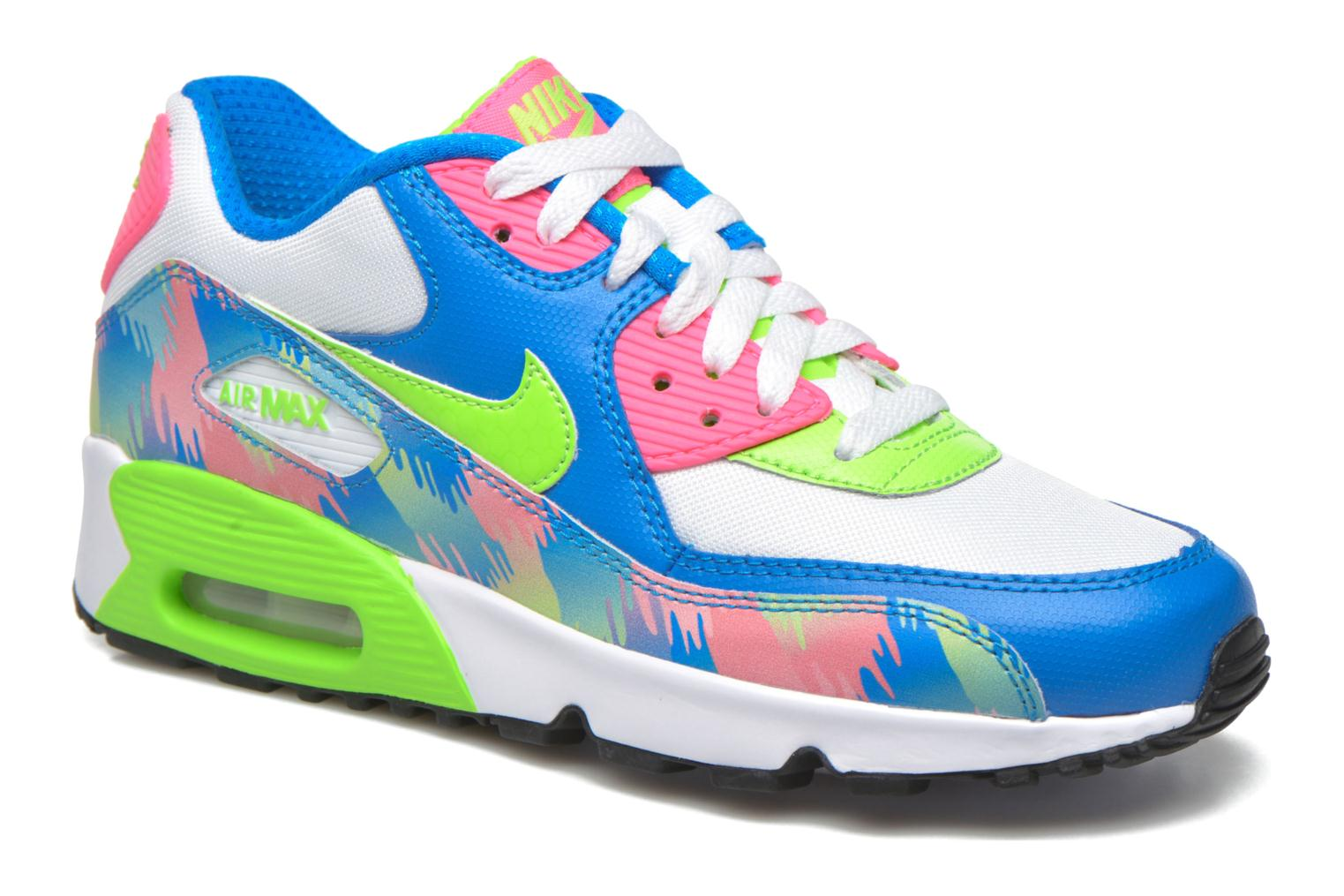 Baskets Nike Nike Air Max 90 Print Mesh Gs Multicolore vue détail/paire
