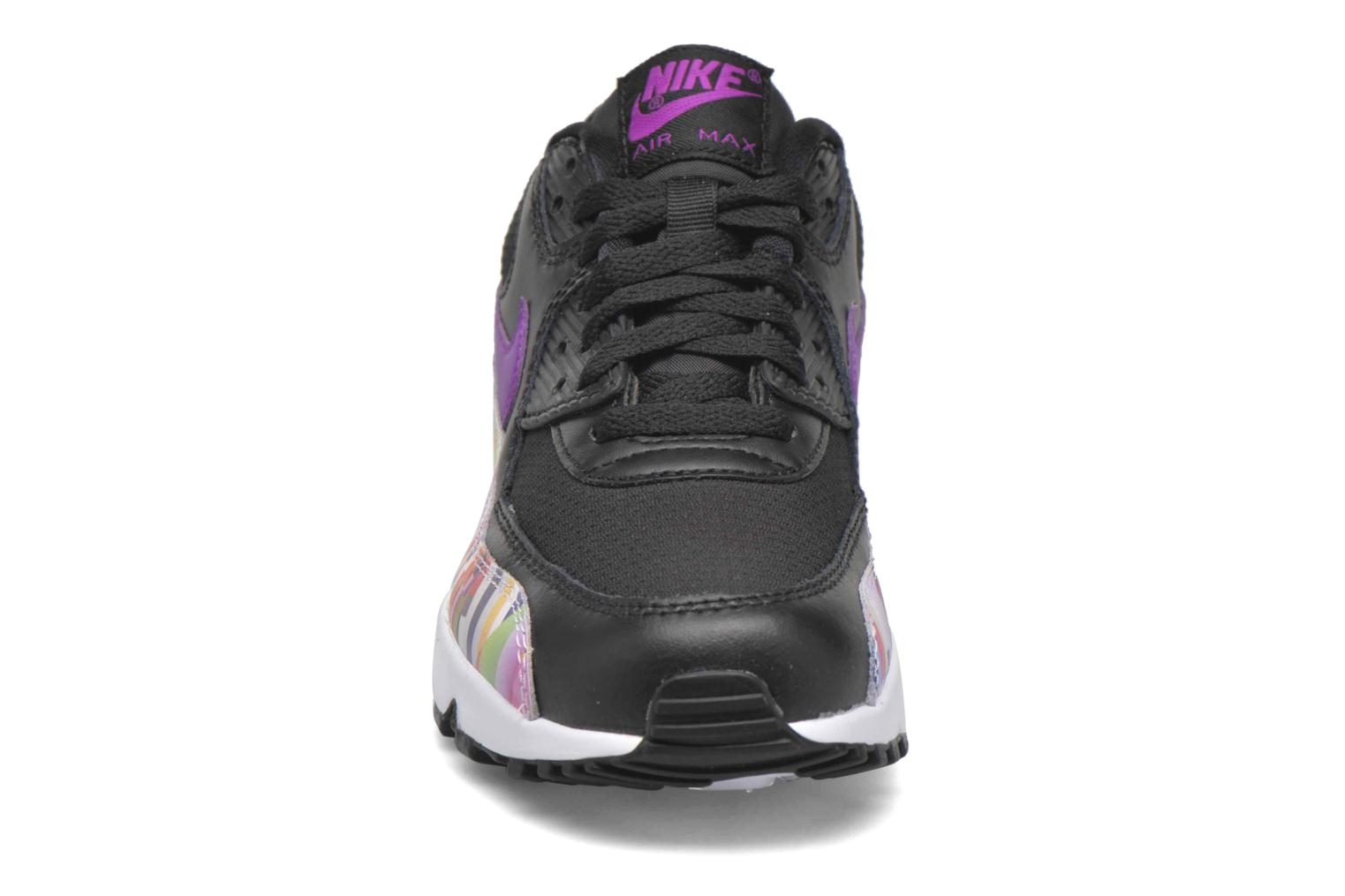 Sneakers Nike Nike Air Max 90 Print Mesh Gs Nero modello indossato