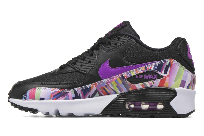 Sneakers Nike Nike Air Max 90 Print Mesh Gs Nero immagine frontale