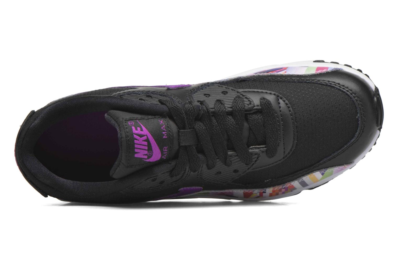 Deportivas Nike Nike Air Max 90 Print Mesh Gs Negro vista lateral izquierda