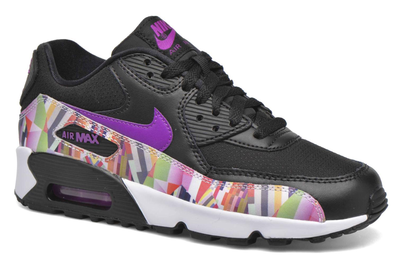Nike Air Max 90 Print Mesh Gs Black/Hyper Violet-Hyper Violet