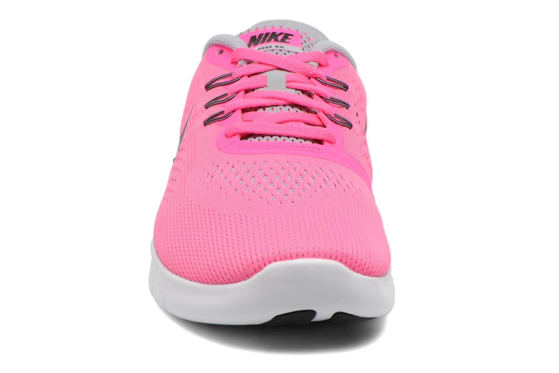 Nike Free Rn (Gs) Pnk Blast Mtllc Slvr-White-Blk