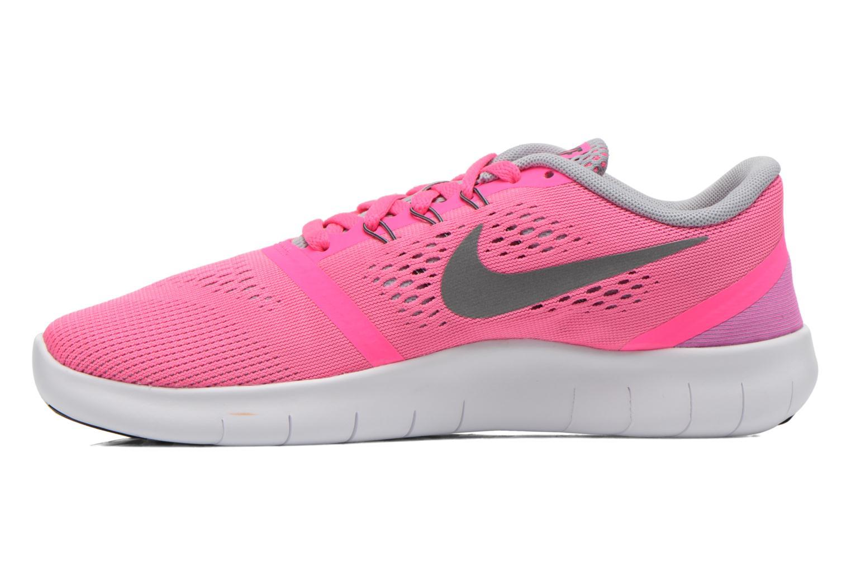 Sneaker Nike Nike Free Rn (Gs) rosa ansicht von vorne