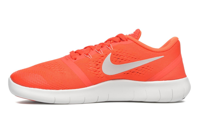 Baskets Nike Nike Free Rn (Gs) Orange vue face