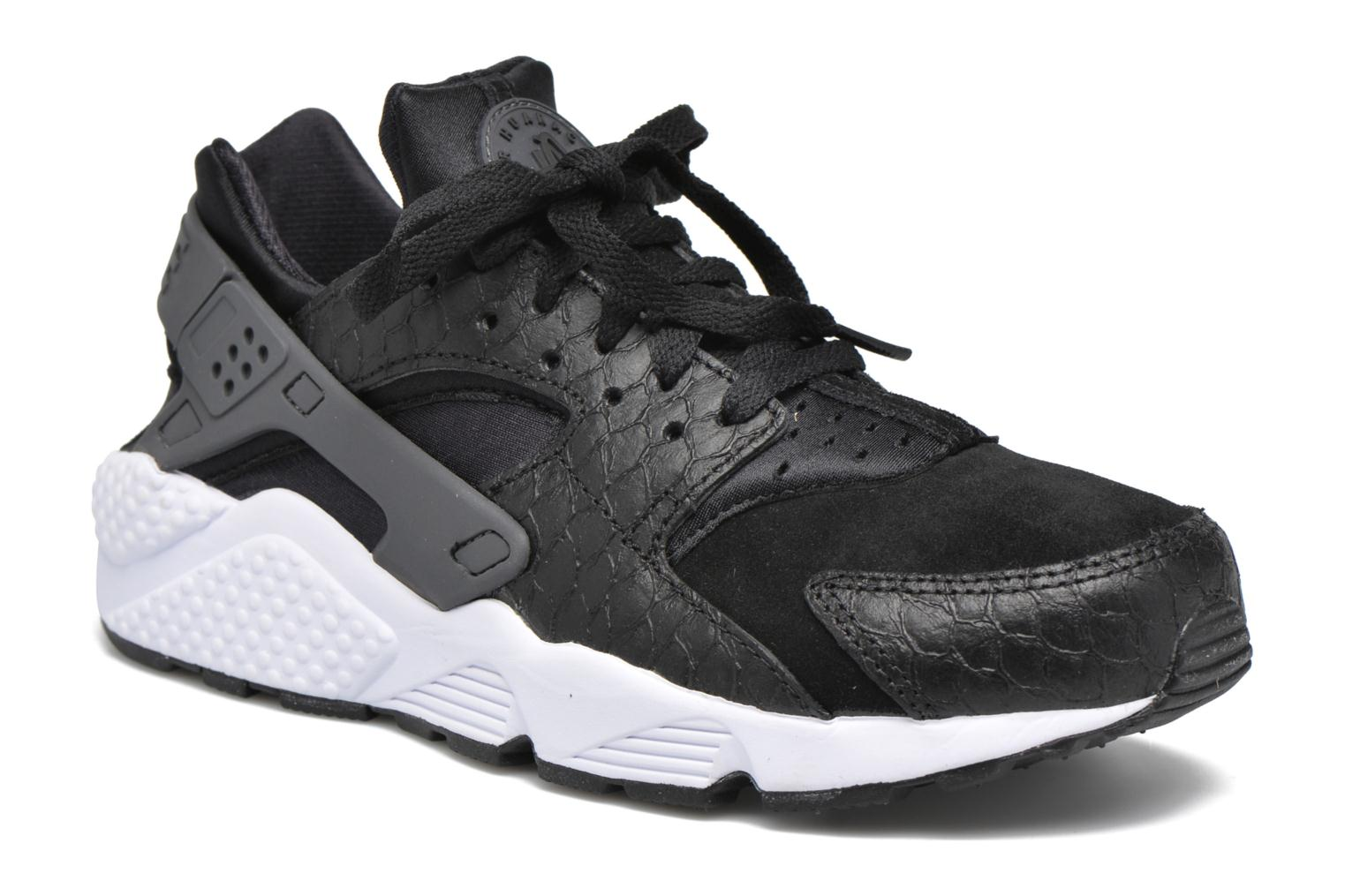 Nike Air Huarache Run Prm Black/Dark Grey-White