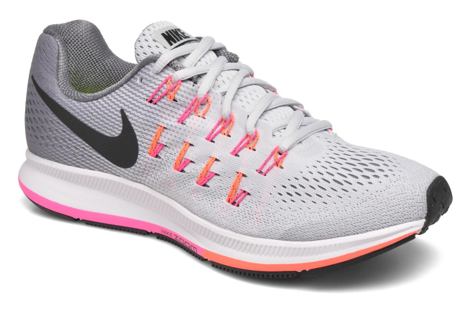 Wmns Nike Air Zoom Pegasus 33 Pure Platinum/Black-Cool Grey-Pink Blast