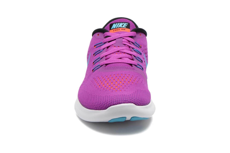 Sportschuhe Nike Wmns Nike Free Rn lila schuhe getragen