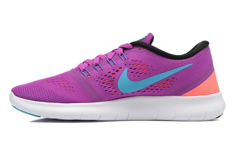 Sportschuhe Nike Wmns Nike Free Rn lila ansicht von vorne