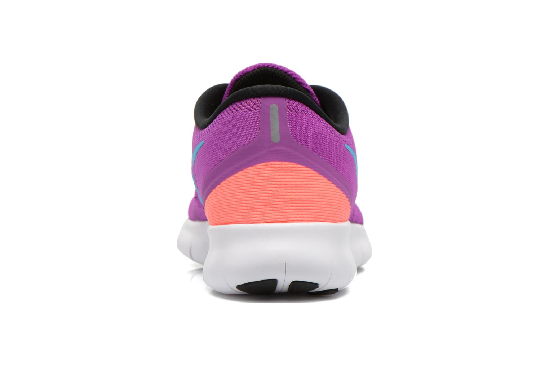 Sportschuhe Nike Wmns Nike Free Rn lila ansicht von rechts